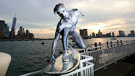 Epic Silver Surfer Costume In NYC