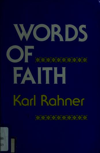Cover of: Words of faith | Rahner, Karl