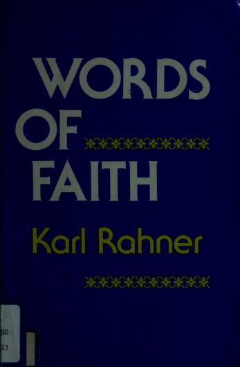 Words of faith by Rahner, Karl